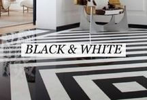 [ Black & White ] / Black & White - The incorporation of graphic black and white pieces in a design add an interesting element to the overall look. Black and White interior design inspiration, curated by Willetts Design.