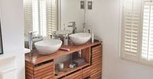 Compact Chic Bathrooms / Packing a lot of character into a compact space. These chic bathrooms show how bold aesthetic choices can make every room in the home stand out and develop its own unique feel.