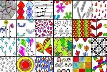 doodles, zentangle, madala en kleurplaten