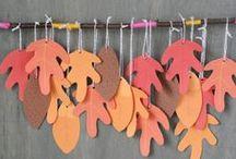 Hojas caen... / Manualidades del otoño.
