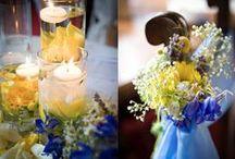 M&P - Rustic chic wedding / blue and yellow wedding in veneto