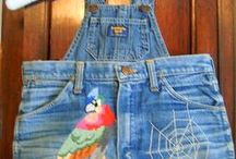 Denim - Upcycle Recycle Make-Over those old denim blue jeans / Old Denim Jeans live forever....So many projects, so little time!! From old jeans to aprons, bags, totes, purses, dresses, skirts, wall hangings, potholders, quilts........... / by Sew Vintage Memories