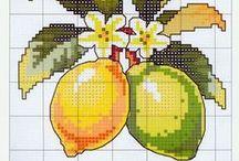 Borduren / Groente / Fruit
