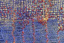 ART : Graphic textile - Design Embroidery / #Embroidery #art #textile #broderie #graphique