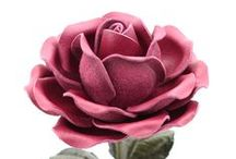 Life Size Leather Roses / Handmade life-size leather roses will make a perfect leather anniversary gift: three life-size leather roses for 3rd wedding anniversary and nine leather roses for 9th wedding anniversary will make a gift to remember!