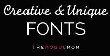Creative + Unique Fonts / Creative + Unique Fonts   A collection of our very favorite vintage, retro, letterpress, handwritten, swirly, block, and other fonts for web design and logo design. Original looking fonts for branding.