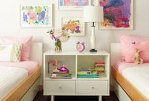 Girls Shared Bedroom Organizing & Design / Shared spaced for two girls