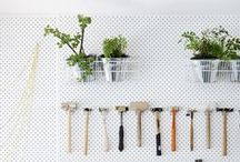 GARDEN + PATIO / Maintaining, organizing and streamlining gardening supplies, patios, and outdoor spaces.