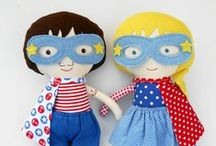 LA LOBA STUDIO / Superhero rag dolls for girls and boys   www.etsy.com/shop/lalobastudio