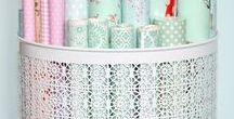 Wrapping Paper Storage & Stations / Gift wrap stations and storage