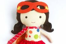 FABRIC DOLLS, SOFT TOYS / fabric dolls, cloth dolls, rag dolls, handmade dolls, softies, plushies,