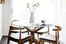 DINING / Organizing + Styling a dining room.