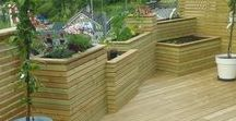 Built in planter box / My project.   Blomsterkasse, Planter Box, Garden, terrasse, outdoor, hage, terrace, small outdoor, deck