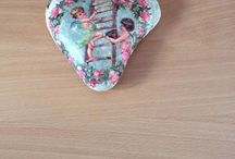 my decoupage-stones