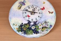 my decoupage-clocks
