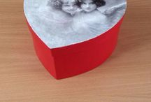 my decoupage-paper boxes