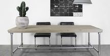 Steigerhouten tafels en bureau's