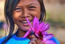 """Rires et Sourires / que la joie éclate ou qu'un doux sourire se pose sur les lèvres, tout devient lumineux, tendre ou joyeux . . . """" La faculté de rire aux éclats est la preuve d'une excellente âme. """" Jean Cocteau / by Mariecapucine"""