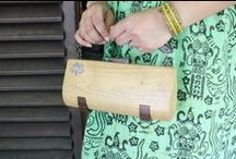 hand bag / wooden hand bag (modeling on progres)
