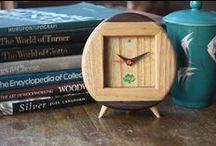 clock / wooden clock