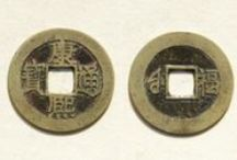 Qing Dynasty: Kangxi Cash Coins / A collection of images of Qing Dynasty cash coinage cast at the imperial and provincial mints. The board covers the full range of Chinese cash coins cast during the era of Emperor Kangxi (1661-1722 AD).  / by Danny