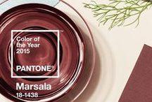 """2015 Color of the Year - Marsala / When Pantone, the global color authority, announced Marsala, as the Color of the Year for 2015, it created a firestorm of discussion. Love it or hate it?  The color, a deep, reddish brown, is called """"a naturally robust and earthy wine red.""""  / by BIC Graphic"""