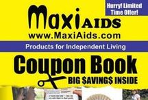 MaxiAids Coupons / MaxiAids Coupons, coupon tips, coupon guides, and other amazing deals and discounts. MaxiAids 2015 Coupon Book features over $1,500 in savings to meet all your special needs: http://www.maxiaids.com/store/m_viewcoupon.asp