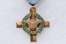 U.S. Air Force Cross / The Air Force Cross is the second highest military award that can be given to a member of the United States Air Force, and is awarded for extraordinary heroism not justifying the award of the Medal of Honor. It may be awarded to any individual who, while serving in any capacity with the U.S Air Force, distinguishes him or herself by extraordinary heroism in combat. / by Danny's History & Ancient Cash Coins