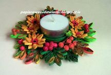 Quilling- Candle holders