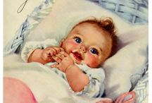 Rock-a-bye Baby / All about a baby... Vintage cards, clothing, toys, And books.