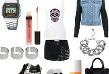 Polyvore / Polyvore a website where you can create collages of outfits.