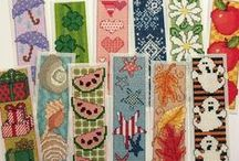 Bookmarks / Embroidery. Cross Stitch, Crochet, Zentangle, Sewn Bookmarks.