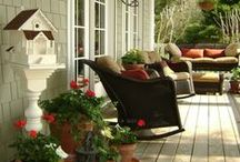 Fall Porch Living! / Just because fall is here doesn't mean you still can't enjoy your outdoor space.Decorate it to show your festive fall side!