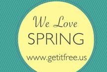 Hello Spring. / This board is a compilation of  deals, freebies, videos, articles, and just anything to do with the wonderful season of Spring.  / by Get It Free