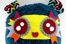 Jazzy Raccoon Fabric Creations!! / My handmade fabric monsters and stuff!!!
