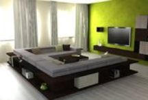 YaCUBE Magnetic modular furniture / New modern home with magnetic modular furniture . TV walls , shelves , cabinets , bookcases .