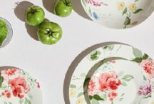 Floral Inspired Dining / Create a sanctuary in your home with effortlessly stylish and idyllic floral collections inspired by archive designs.  Update your table with any of these casual collections to create a colourful and decorative look with a hint of heritage.