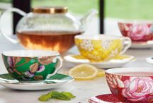 Tea Garden \ Blends & Teaware / Celebrate the historic art of taking tea with the bold floral Tea Garden collection by Wedgwood. Honouring a British pastime, this collection of tea blends and teaware brings a beautiful tradition to contemporary living - with striking motifs and vibrant colours that will uplift any party or afternoon tea occasion.   Four delightful designs taken from Wedgwood archives feature on bone china teaware in precious colours inspired by the fruits, flora and fauna of nature.