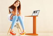 BDI Bink Mobile Media Table / Perfect little laptop table from BDI.  http://www.getbink.com / by BDI Furniture
