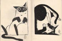 ilustrações l gatos