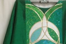 Green Vestments / Vestment designs for Ordinary Time, Pentecost or Epiphany.