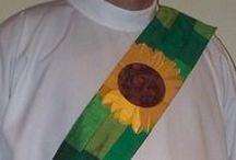 Green Deacon Stoles / Deacon stoles for Ordinary Time, Epiphany or Pentecost