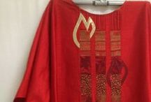 Red Vestments / Vestment designs for Palm Sunday, Pentecost or other church holy days.