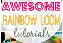 DIY - Rainbow Looms / Todo lo que puedes hacer con las famosas gomitas del pelo.