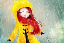 Irish inspired illustration / Cute #illustrations about #Irish culture. #Ireland #Rainy #Viking