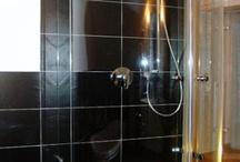 Dusche - dreiseitig Glas