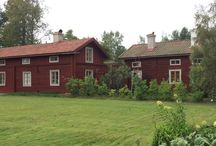 My home / Our wood log house in Hälsingland Sweden
