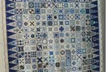 Blue- and Redwork Quilt