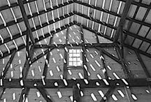 1825 Sayre Barn / The Captain Isaac Sayre Barn was moved from the Main Street home lot on the corner of Hampton Road to the Rogers Mansion grounds of the Southampton Historical Museums in 1954.