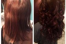 |Extensions| / A service to lengthen one's hair.